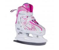 Коньки ледовые/раздвижные POINTER pink