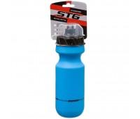 Велофляга STG 600мл  CSB-542M голубая с крышкой