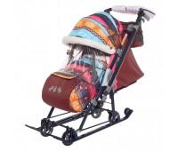Санки-коляска «Ника детям 7-7», цвет скандинавский