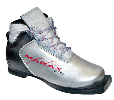 Ботинки лыжные Marax M-350/NN-75 сереб/черн