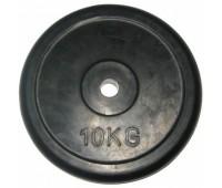 Диск д-26мм 10,00 кг черный/обрез