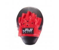 Лапы бокс гнутые (иск.кожа) Е056 черно-красные