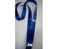 Лента для медалей синяя с нанесением