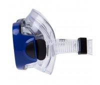 Набор маска и трубка MS-1015S31 ПВХ (синий)