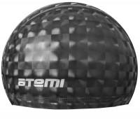 Шапочка д/плавания тканевая с ПУ покрытием, чёрн 3D/PU 120