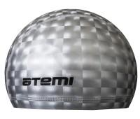 Шапочка д/плавания тканевая с ПУ покрытием, серебро 3D/PU 200