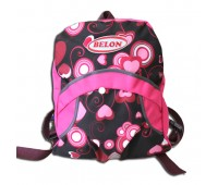 Рюкзак детский Р-3 (сердечки на черном фоне)